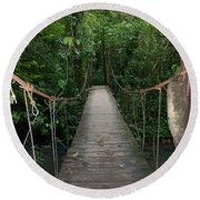 Hanging Bridge Round Beach Towel
