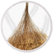 Hanging Dried Flowers Bunch Round Beach Towel