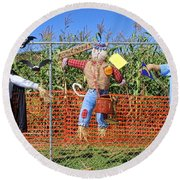 Hanging For Halloween By Diana Sainz Round Beach Towel