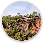 Hanging Forest Round Beach Towel