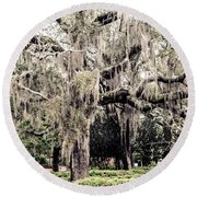 Hanging Moss Round Beach Towel