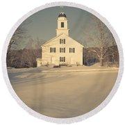 Hanover Center Church Etna New Hampshire Round Beach Towel
