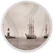 Hanse Sail Round Beach Towel