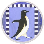 Hanukkah Penguin Two Round Beach Towel