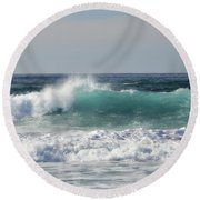 Happily At Sea Round Beach Towel
