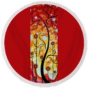 Happiness By Madart Round Beach Towel