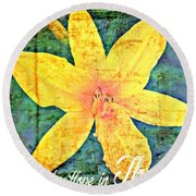 Happy Are We Round Beach Towel