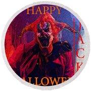Happy Halloween Jack Round Beach Towel