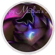 Happy Mothers Day 01 Round Beach Towel