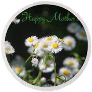 Happy Mother's Day 03 Round Beach Towel
