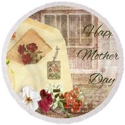 Happy Mother's Day Round Beach Towel