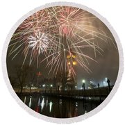 Happy New Year 2014 A Round Beach Towel