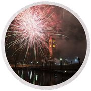 Happy New Year 2014 B Round Beach Towel