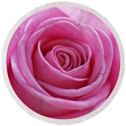 Happy Pink Round Beach Towel
