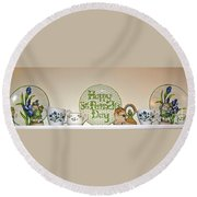 Happy St Patrick's Day  Round Beach Towel