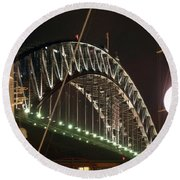 Harbor Bridge Round Beach Towel