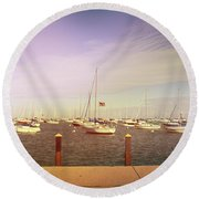 Harbor Round Beach Towel