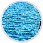 Harbor Markers Round Beach Towel