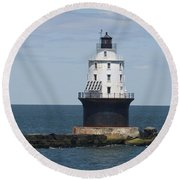 Harbor Of Refuge Lighthouse IIi Round Beach Towel