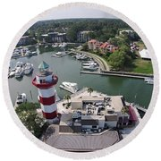 Harbor Town 1 In Hilton Head Round Beach Towel
