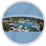 Harbor Town 7 In Hilton Head Round Beach Towel