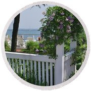 Harbor View Round Beach Towel