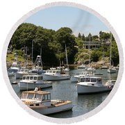 Harbor Views Round Beach Towel