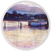 Harbour Lights - Apollo Bay Round Beach Towel