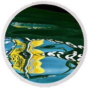 Harbour Master Abstract Round Beach Towel