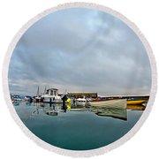 Harbour Overview 2 - Lyme Regis Round Beach Towel