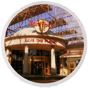 Hard Rock Cafe At Union Station Round Beach Towel