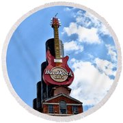Hard Rock Cafe - Baltimore Round Beach Towel