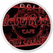 Hard Rock Cafe Nola Round Beach Towel