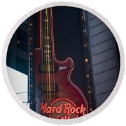 Hard Rock Guitar Nyc Round Beach Towel