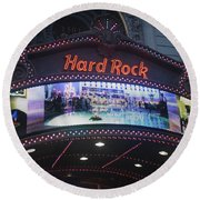 Hard Rock Marquee Nyc Round Beach Towel