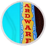Hardware Store Round Beach Towel