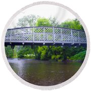 Hares Hill Road Bridge Round Beach Towel