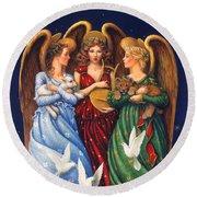 Hark The Herald Angels Sing Round Beach Towel
