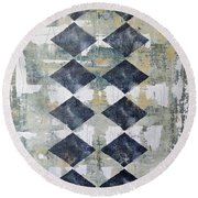 Harlequin Series 2 Round Beach Towel