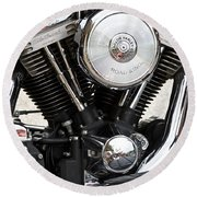 Harley Chrome And Steel Round Beach Towel