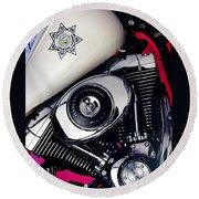 Harley Cop 2 Round Beach Towel