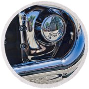 Harley Davidson Engine Round Beach Towel
