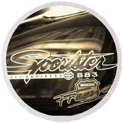 Harley Davidson Sportster 883 Round Beach Towel