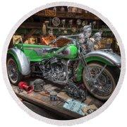 Harley Trike Round Beach Towel