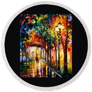 Harmony - Palette Knife Oil Painting On Canvas By Leonid Afremov Round Beach Towel