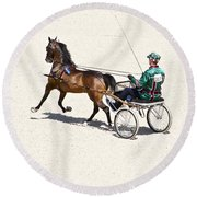 Harness Green Round Beach Towel