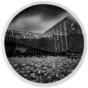 Harpa Round Beach Towel