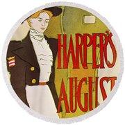 Harpers August 1897 Round Beach Towel