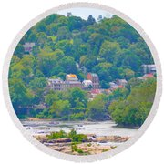 Harpers Ferry View Round Beach Towel