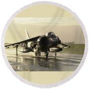 Harrier Gr7 Round Beach Towel